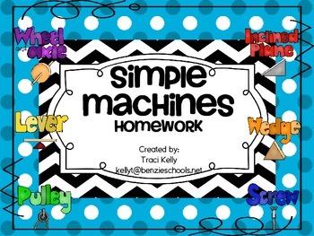 Simple Machines Homework - Scott Foresman 1st Grade
