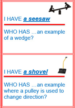 """Simple Machines """"I Have, Who Has?"""" Game"""