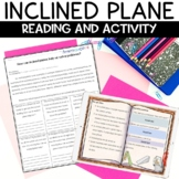 Simple Machines Inclined Plane Reading and Activity