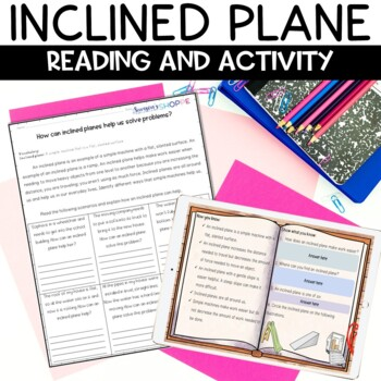 Simple Machines Inclined Plane Nonfiction Article and Activity