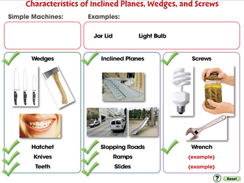 Simple Machines: Inclined Planes, Wedges, and Screws - NOTEBOOK Gr. 5-8