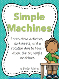 Simple Machines Bundle- Interactive Activities, Printables
