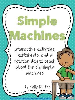 Simple Machines Bundle- Interactive Activities, Printables