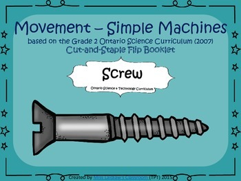 Simple Machines - Interactive Flipbook - Screw