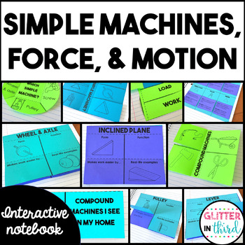 Simple Machines, Force, & Motion Interactive Notebook BUNDLE