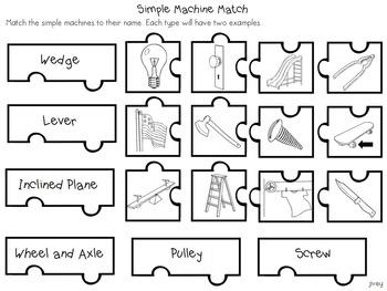 Simple Machines Interactive Notebook Activities