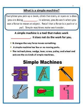 Simple Machines - PowerPoint, Interactive Notes & Assessment - 4th Grade Science