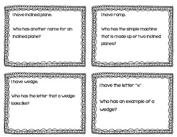 "Simple Machines Interactive Vocabulary Game ""I Have, Who Has?"" Cards"