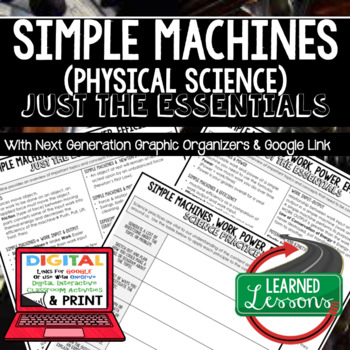 Simple Machines Just the Essentials Content Outlines, Next Generation Science