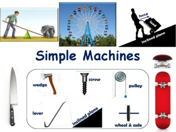 Simple Machines Lesson & Flashcards - task cards, study guide, 2017 2018 update
