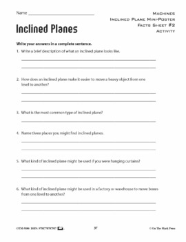 Inclined Plane Lesson Plan