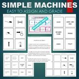Simple Machines (Lever, Screw, Pulley, Wheel, etc)  Sort & Match Activity