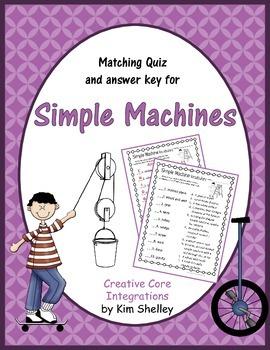 Simple Machines Matching Quiz