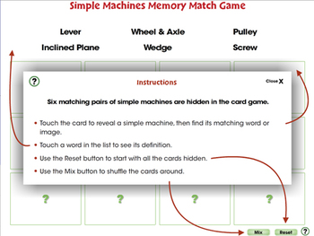 Simple Machines: Memory Match Game - PC Gr. 5-8