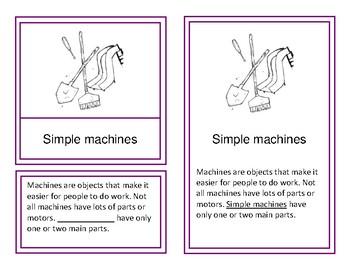 Simple Machines Montessori Vocabulary Cards