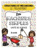French Simple Machines Movement Science Unit (Les machines simples)