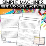Simple Machines Nonfiction Worksheets and Demonstrations BUNDLE
