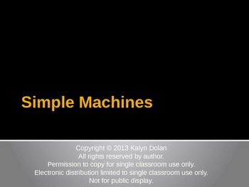 Simple Machines Overview
