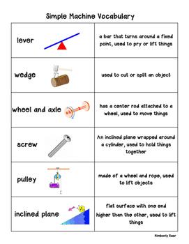 Simple Machines Pack! Vocabulary, Matching, Sorting, Pract