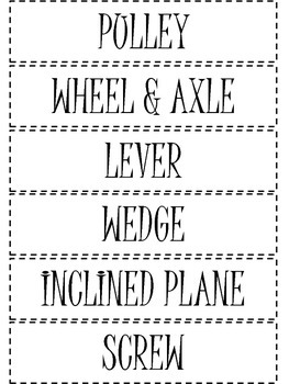 Simple Machines Picture Sort (large pictures)