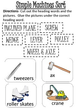 Simple Machines Picture Sort (small pictures)