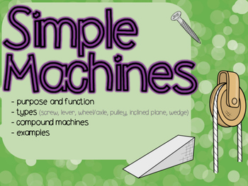 Simple Machines Powerpoint & Guided Notes