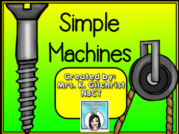 Simple Machines Promethean ActivInspire Flipchart Lesson