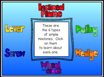 Simple Machines Promethean ActivInspire Flipchart Lesson