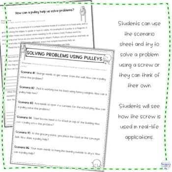 Simple Machines Pulley Nonfiction Article and Activity