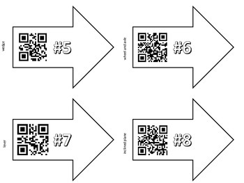 Simple Machines QR Code Game {Find & Identify Machines in Classroom or School}
