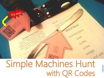 Simple Machines QR Code Game {Find & Identify Machines in