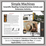 Simple Machines Reading Comprehension Article - Grade 8 and Up