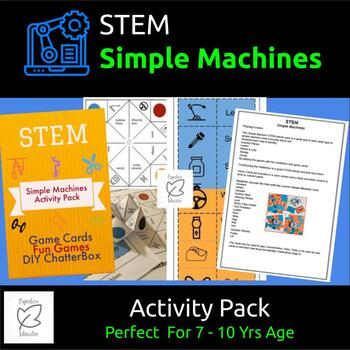 STEM, Simple Machines Activity Pack, Science Activities, Games