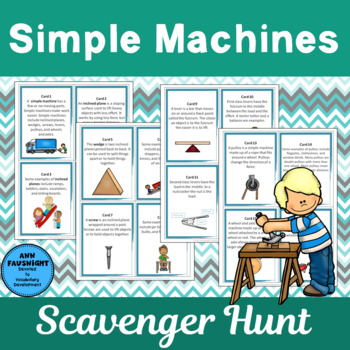 Simple Machines Scavenger Hunt and Flapbook