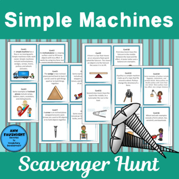 Simple Machines Scavenger Hunt and Posters