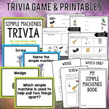 Simple Machines: Anchor Charts, Interactive Book, Activities
