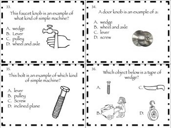 Simple Machines Science Task Cards and More by Dragons Den | TpT