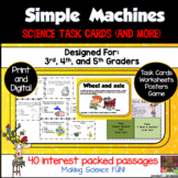 Simple Machines Science Task Cards and More