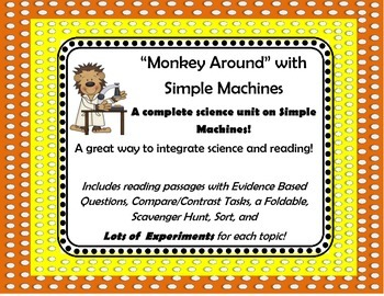 Simple Machines Science and Reading Integrated Unit