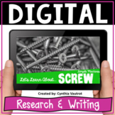 Simple Machines Screw Digital Research and Writing