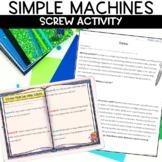 Screw Simple Machines Activity