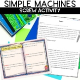 Simple Machines Screw Reading and Activity