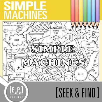Simple Machines Seek and Find Science Doodle Page