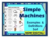 Simple Machines Sort Cut & Paste Examples, Definitions & Application- DIGITAL!