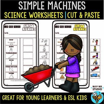 Simple Machines Sorting Worksheets | Cut and Paste