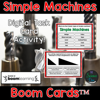Simple Machines Task Cards - Digital Boom Cards™