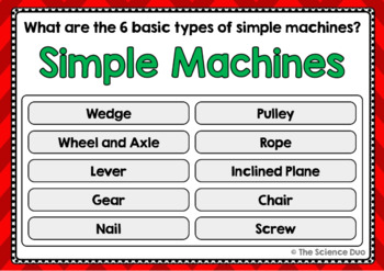 Simple Machines Task Cards - Digital Boom Cards™