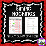 Simple Machines:  Study Guide and Assessment Pack