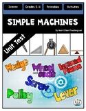 Simple Machines Test {Editable}