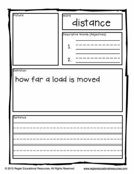 Simple Machines Tiered Vocabulary Booklets